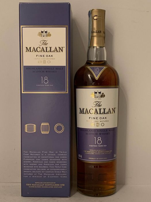 Macallan 18 years old Fine Oak - 0.7 Ltr
