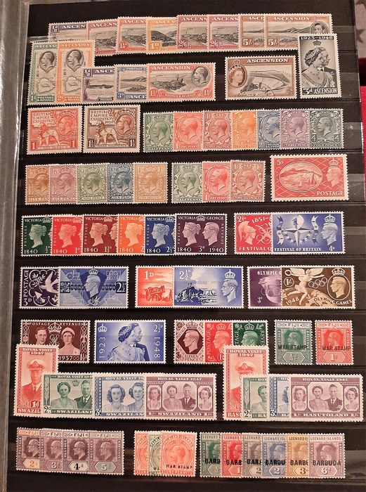 Commonwealth britannique - Very neat MNH + a few hinged English Colonies !! - Stanley Gibbons