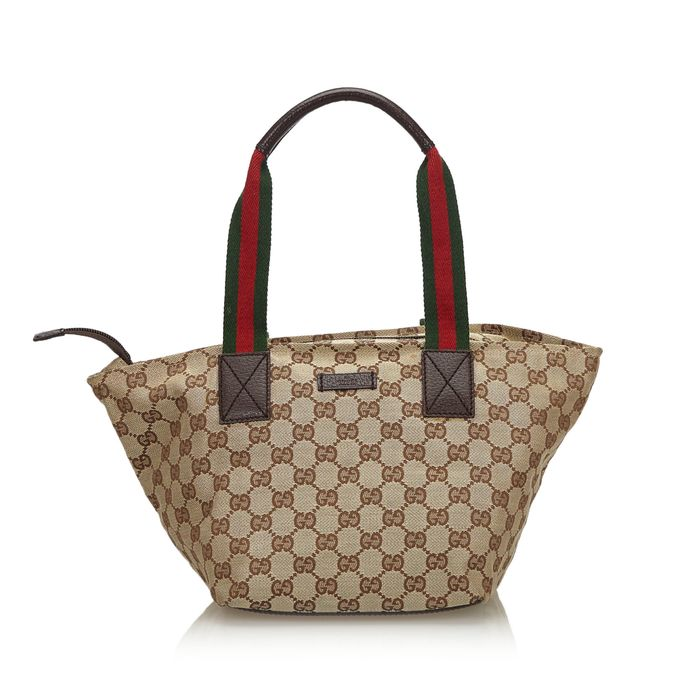 Gucci - GG Web Canvas Shoulder Bag Handbag