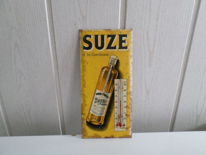 old advertising wall thermometer Suze à la gentiane - Cardboard