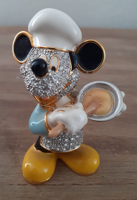 Arribas - Mickey Mouse as a cook - inlaid with Swarovski - Crystal