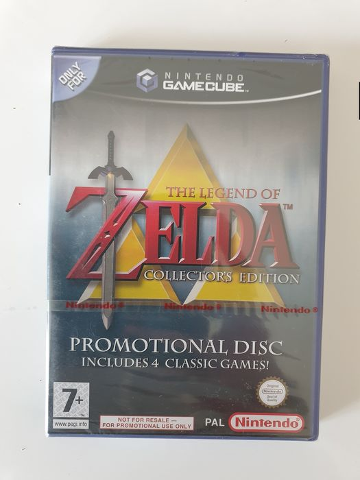 Nintendo Gamecube THE LEGEND OF ZELDA COLLECTOR'S EDITION Rare Not for Resale FAH edition GC Factory Sealed With Nintendo Red Strip Seal - Video games - In original sealed box