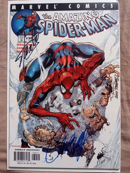 Marvels - Amazing Spiderman #30 signed by Stan Lee and J. SCOTT CAMPBELL - First Edition - (2001)