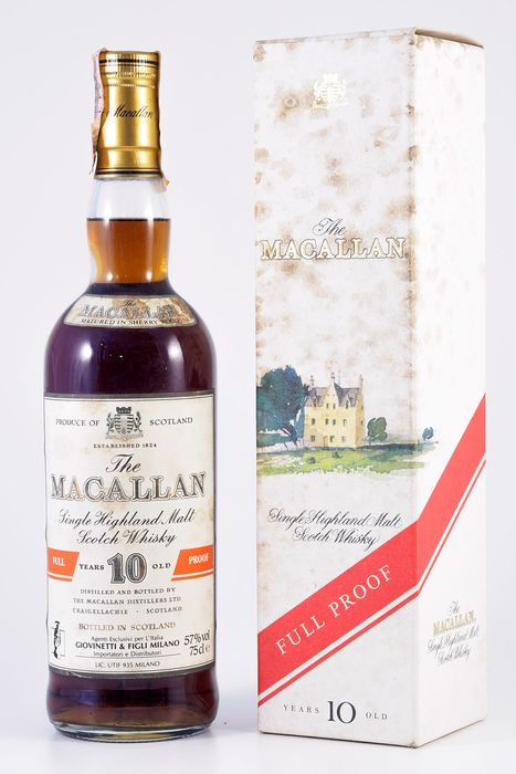 Macallan 10 years old Full Proof - Official bottling - b. 1980er Jahre - 75 cl