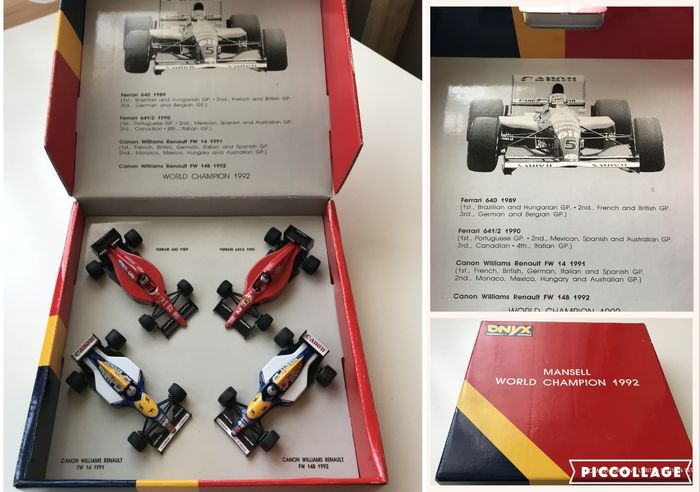 Onyx - Scale 1:43 - Nigel Mansell World Champion 1992 - Limited Edition Set with 4 F1 cars