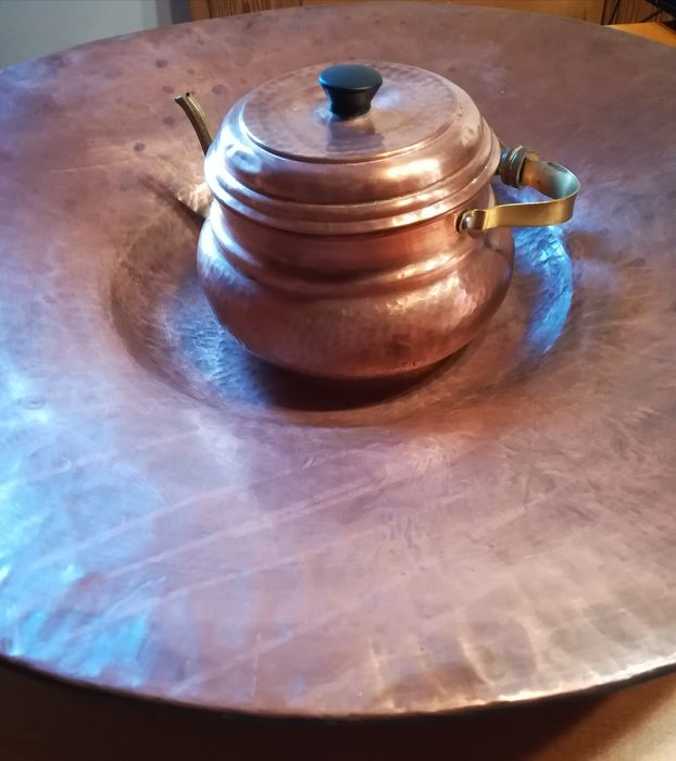 huge copper plate and kettle (2) - Copper