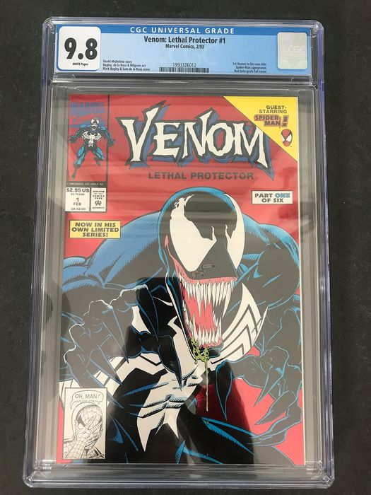 Venom: Lethal Protector #1 - Red Holo-grafx Foil Cover - CGC Graded 9.8 - White Pages - 1st Venom In His Own Title - Spider-man Appearance - Softcover - Erstausgabe - (1993)