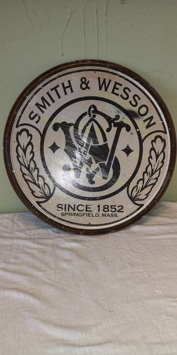 Smith & Wesson - Advertising board - Tin