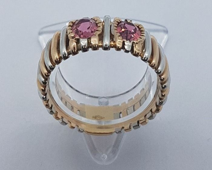 18 kt. Gold - Ring - Sapphire