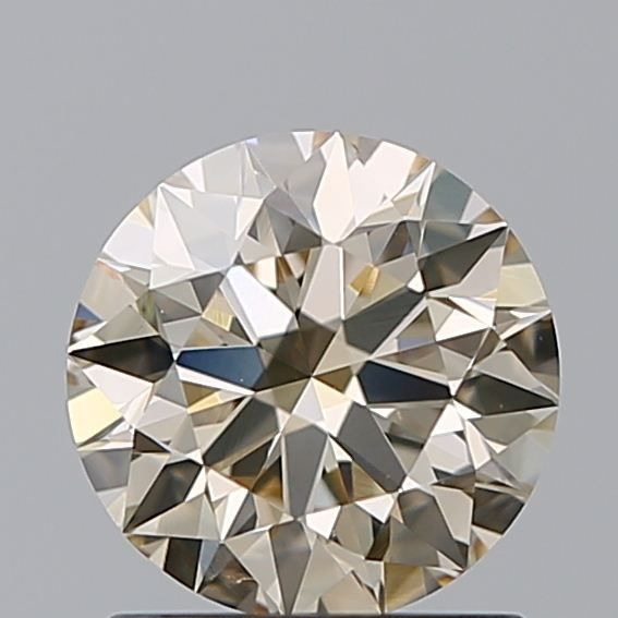1 pcs Diamant - 1.03 ct - Brillant - very light brown - VS2, ***3EX***