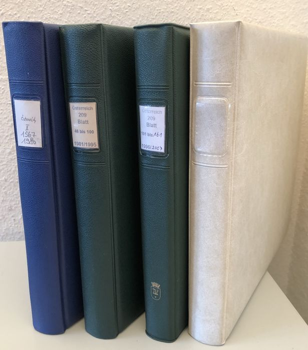 Austria 1967/2011 - Nearly complete collection from Abo in 4 Lindner ring binders