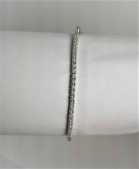 18 karaat Witgoud - Armband - 1.14 ct Diamant