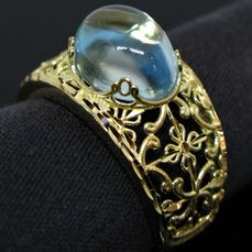18 kt. Yellow gold - Ring - 3.40 ct Topaz
