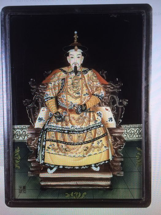 Painting (1) - Glass - L'imperatore - China - 2nd half of the 20th century