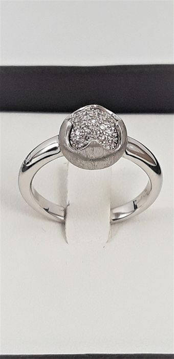 Chimento - 18 carats Or blanc - Bague - 0.15 ct Diamant