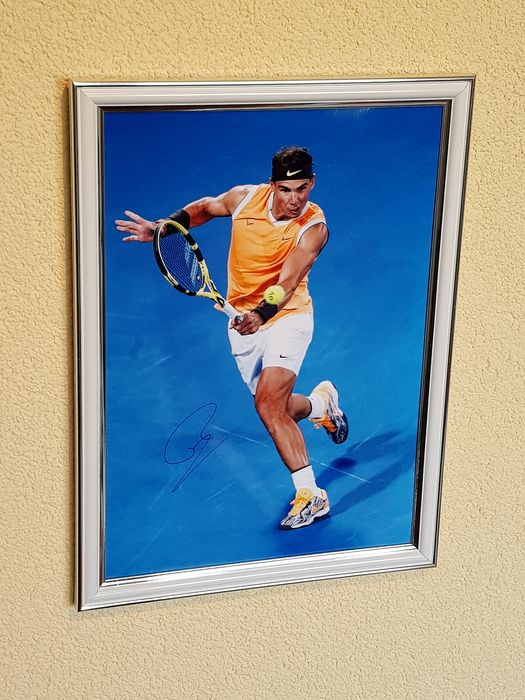 Tennis - Rafael Nadal - hand signed large framed photograph