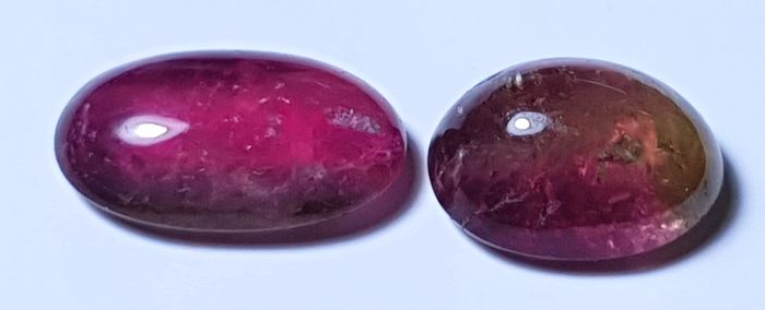 2 pcs Bicolor Tourmaline - 7.10 ct
