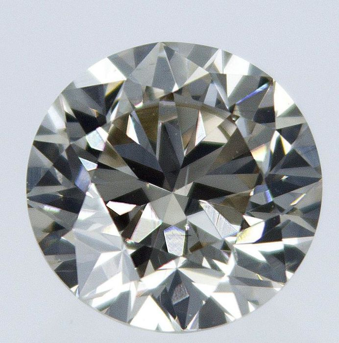 1 pcs Diamond - 0.81 ct - Round - S-T GIA certificate - light brown - VS2