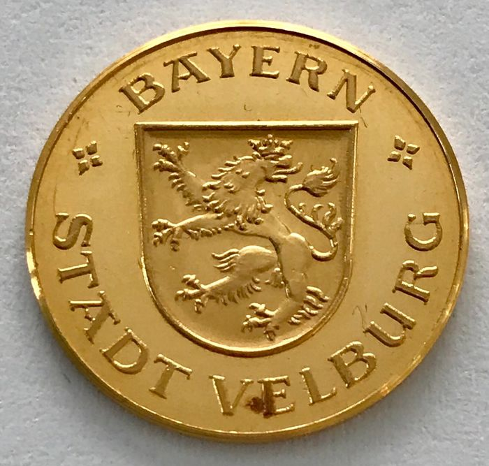 Alemania - Medaille o. J. - Bayern - Stadt Velburg - Oro