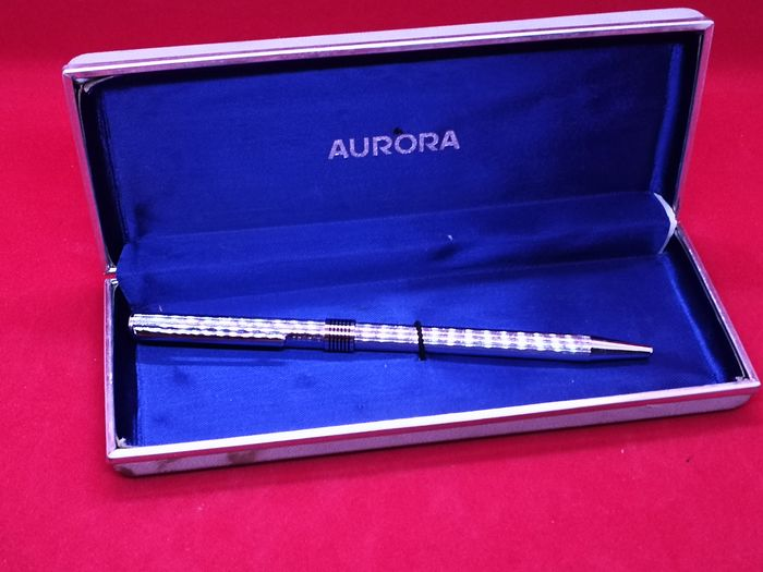 Aurora Vintage made of polished steel, used but in good condition, complete with original box - Ballpoint pen