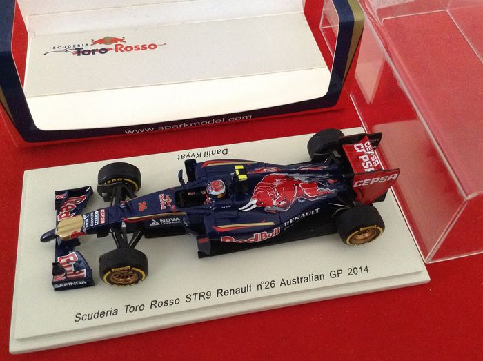 Spark - 1:43 - ref. #S3084  Scuderia Toro Rosso STR9 F.1 Renault GP 9th Australia 2014 - racing number #26 of Kvyat - excellent quality model car - limited edition