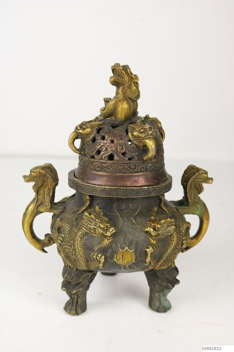 incense burner - Bronze - China - Late 20th century