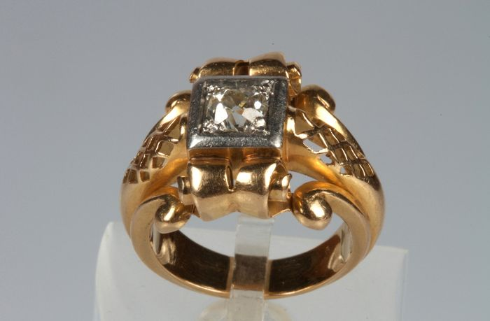 18 carats Or jaune - Bague Diamant