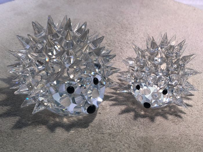 Swarovski - Hedgehog large Hedgehog small without whiskers (2) - Crystal