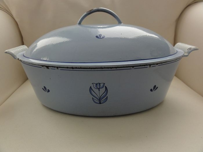 Unknown - Dru Holland - Casserole cast iron enamel (1) - enamel, iron (cast/forged)