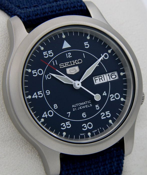 "Seiko - Automatic 21 jewels Blue ""Military Style"" - - ""NO RESERVE PRICE"" - - Unisexe - 2018"