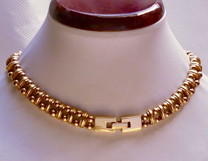 Paris - Dated 1953 - High quality with NO reserve! - 18 karaat Goud gevuld - Choker ketting