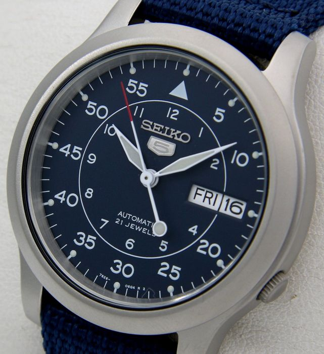 """Seiko - """"NO RESERVE PRICE""""  21 jewels Blue """"Military Style""""  - Unisex - 2018"""