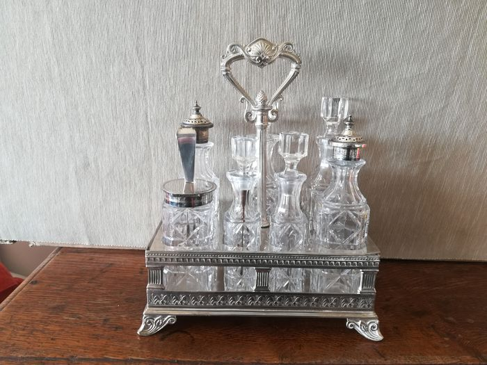 ELKINGTONG AND CO - Cruet stand (8) - .800 silver