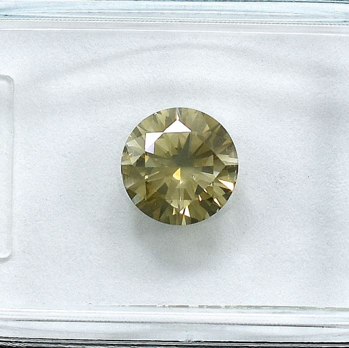 Diamant - 1.07 ct - Brillant - Natural Fancy Grayish Brown - I1