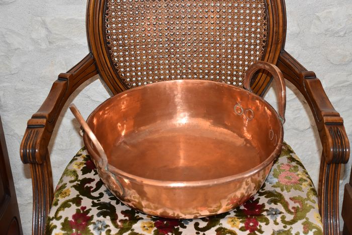 Exceptional cauldron or maslin pan! - Copper