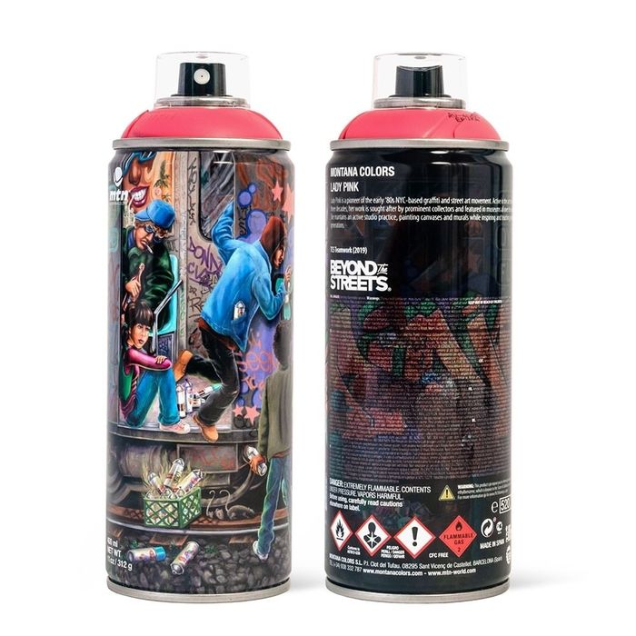 Lady Pink  - MTN Limited Edition Spray can