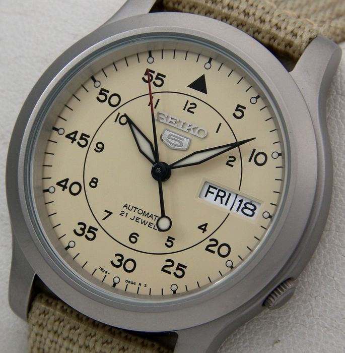 """Seiko - Automatic 21 jewels """"Military Style"""" - - """"NO RESERVE PRICE"""" - - Unisex - 2018"""