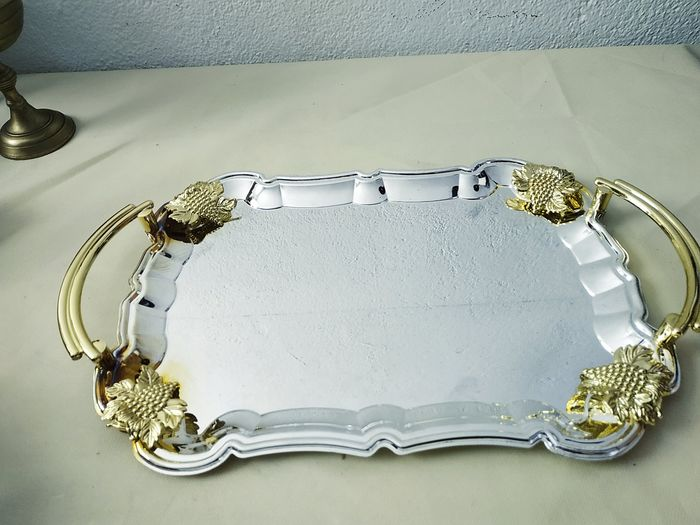 Tray - gold plated metal