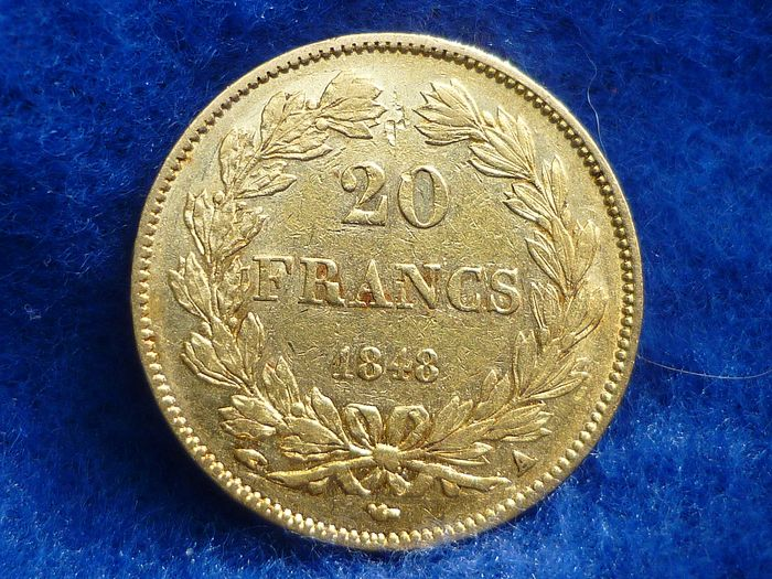 20 Francs 1848-A Louis Philippe I - Or