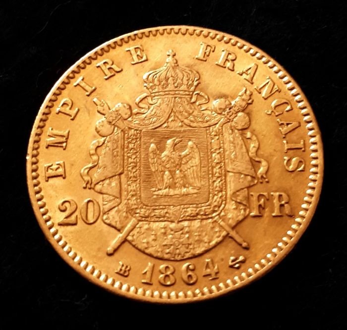 20 Francs 1864-BB Napoléon III - Or