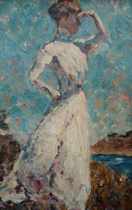 Unknown - Lady looking at the sea