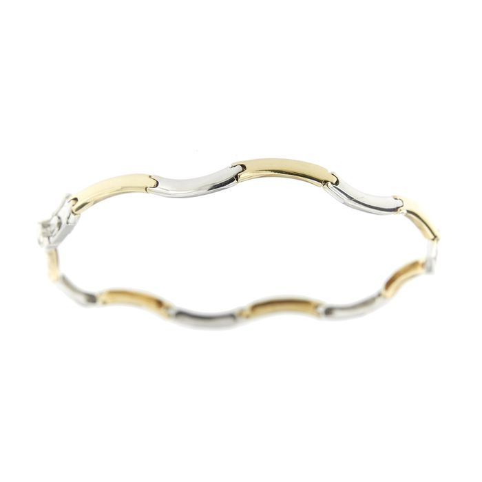 Made in Italy - 18 carats Or blanc, Or jaune - Bracelet