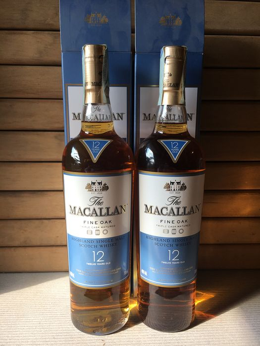 Macallan 12 years old Fine Oak - 70cl - 2 bottles