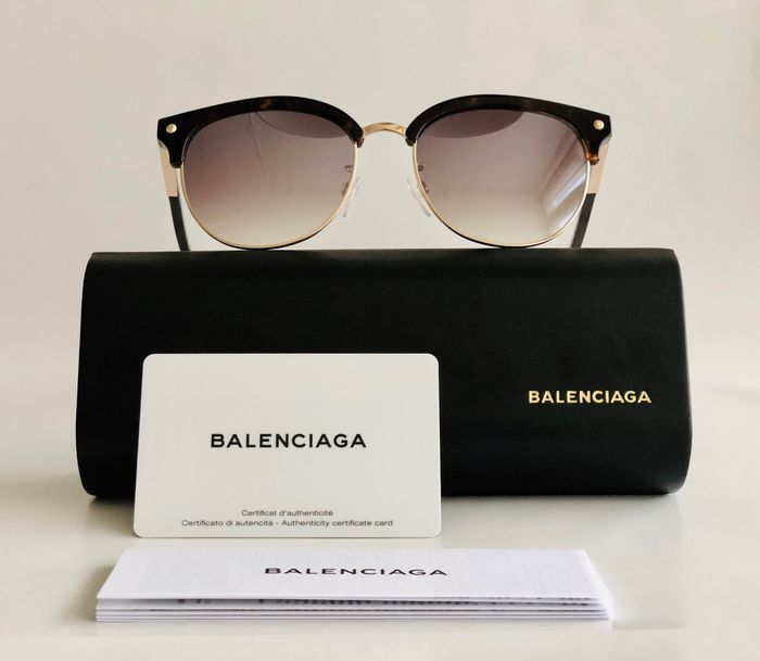 Balenciaga - BA0110-K-52F-55, Style: Butterfly / Clubmaster *Brand new & Unused, Designer Zonnebril