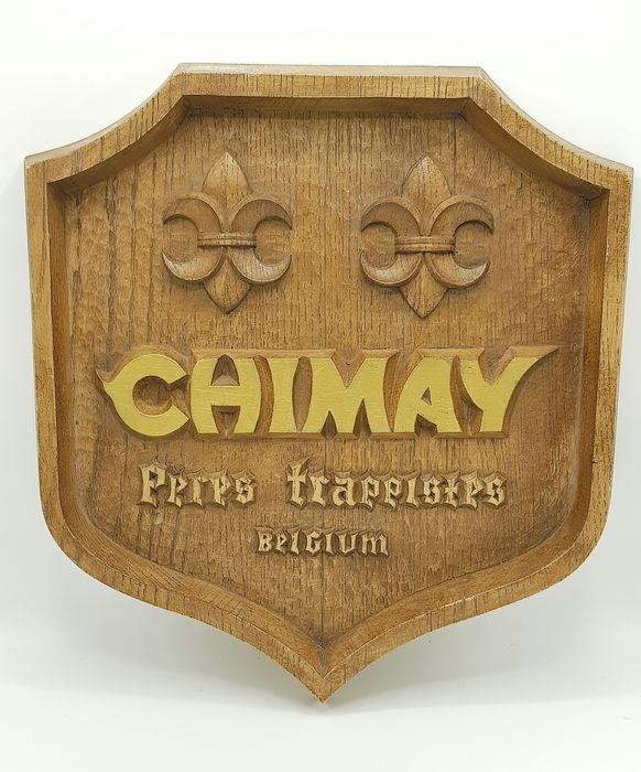 Chimay Trapist Bier  - Sign - Wood look