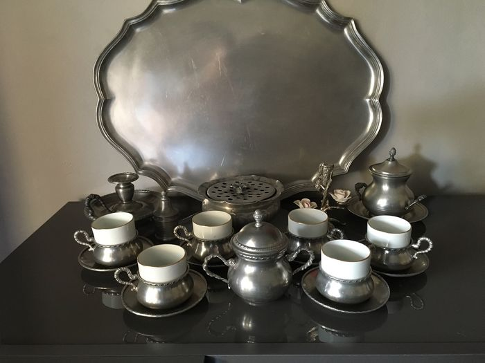 Mixed batch of tableware - Pewter - Ceramics