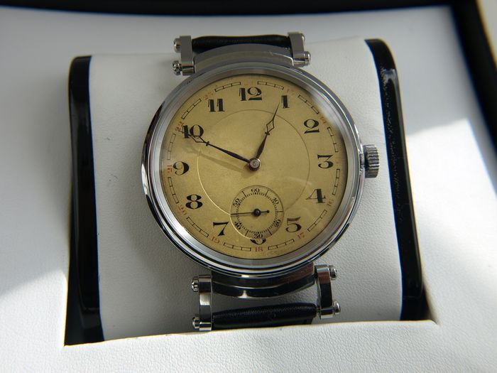 Chronometre Novo  - Ariste Bourquard marriage watch - NO RESERVE PRICE  - Herren - 1901-1949
