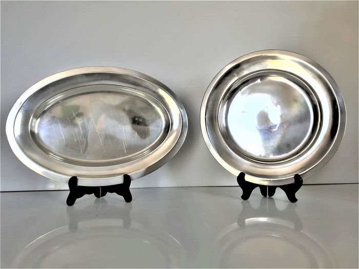 Christofle, 2 serving trays - Silver plated
