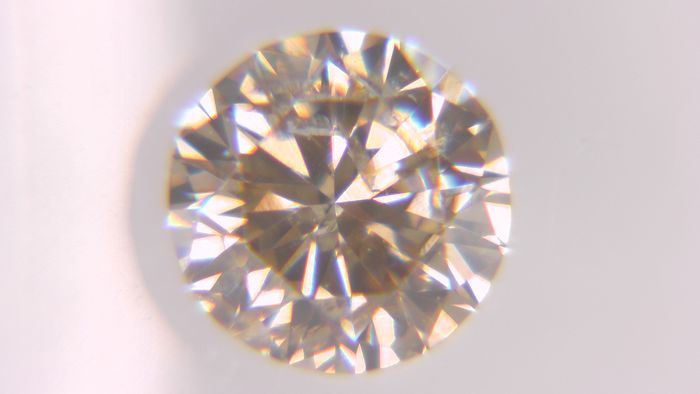 1 pcs Diamant - 0.42 ct - Rond - fancy orangy brown - SI2, No Reserve Price!