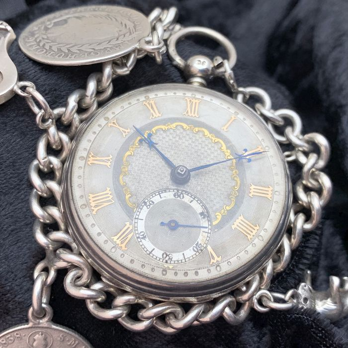 Fusee pocket watch - Fusee - silver chain - Herren - 1859